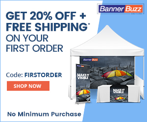 As a New BannerBuzz.ca Customer You Get 20% Off Your First Order! Use Code: FIRSTORDER for 20% Off Custom Banners, Decals, Marketing Materials, and Any Custom Print Needs! Offer Does Not End