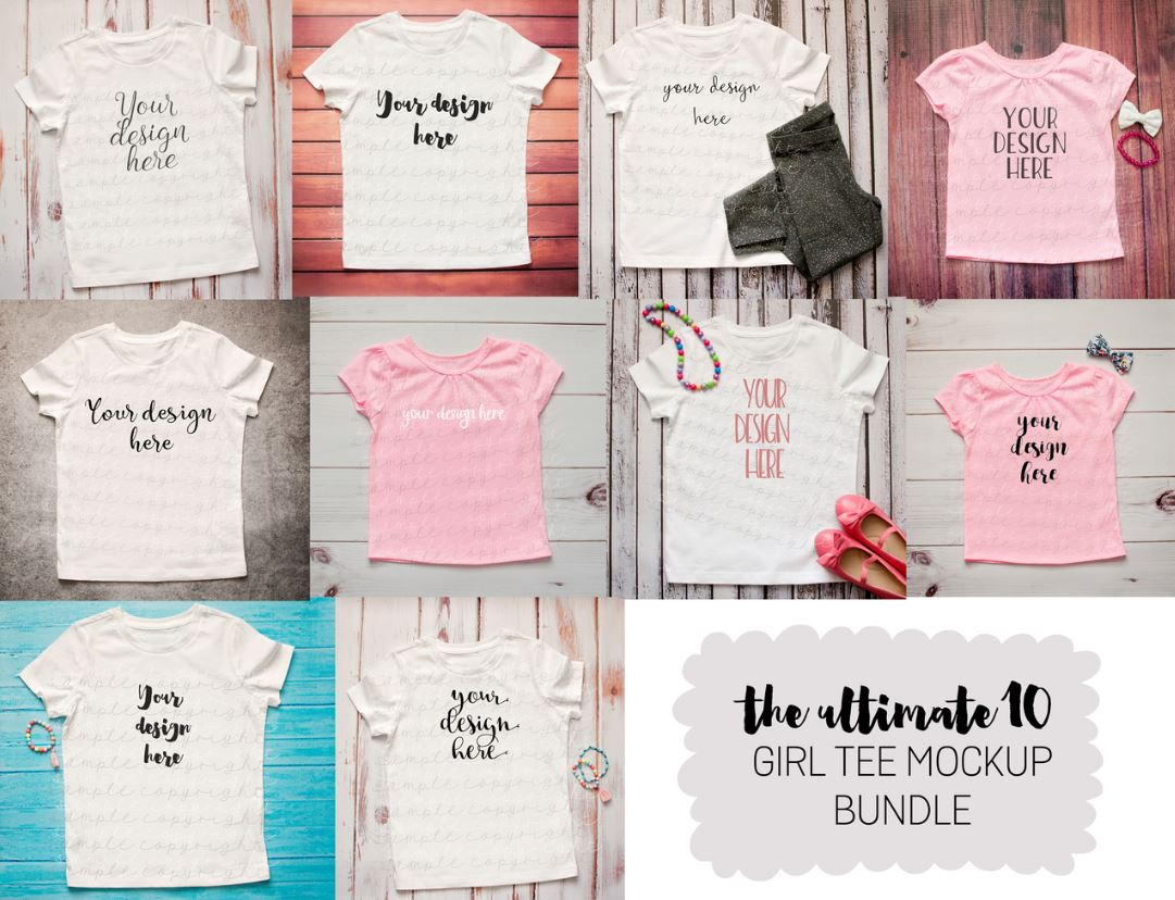 Girl Tee MockUp Bundle