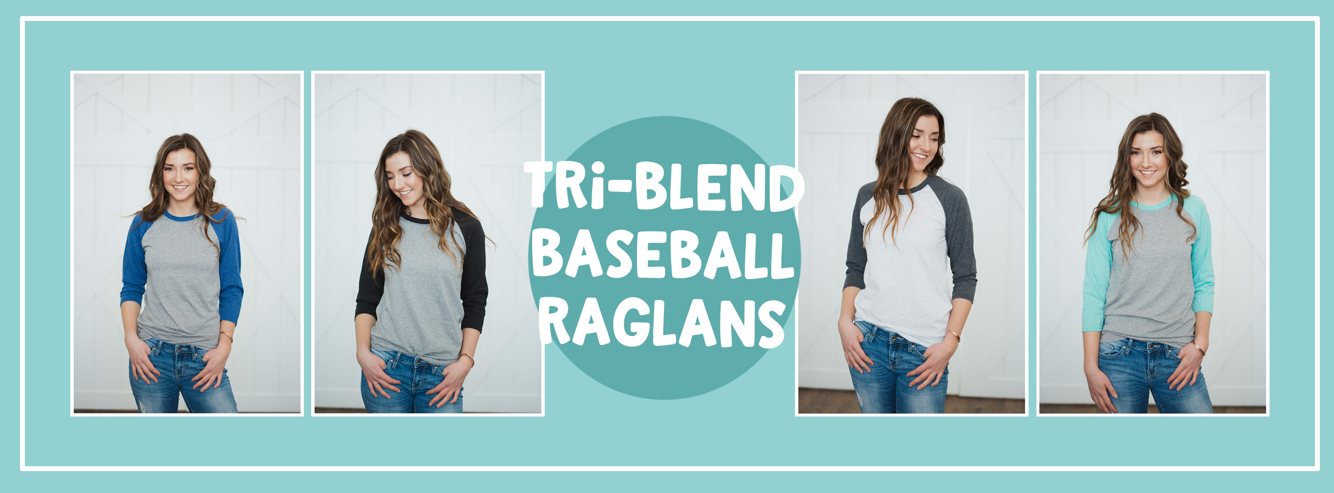 Tri Blend Baseball Raglans at My Vinyl Direct
