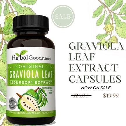 Graviola leaf extract capsules on Sale