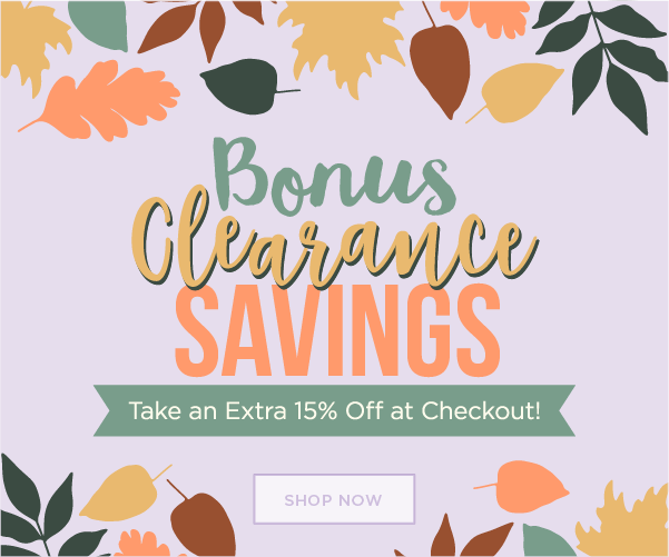 Bonus Clearance Savings Additional 15% off