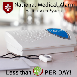 Accidents Happen! Protect your loved ones for less than $1/day with National Medical Alarm