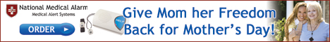 Give Mom her Freedom Back for Mother's Day with an eResponder from National Medical Alarm