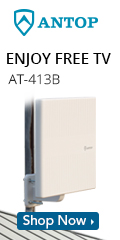 ANTOP Flat-panel AT-413B Smartpass Amplified Outdoor/Attic HDTV Antenna with built-in 4G LTE Filter
