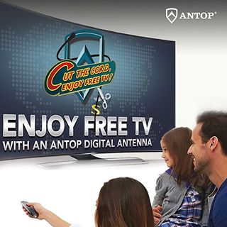 Enjoy Free TV with an ANTOP Digital Antenna.