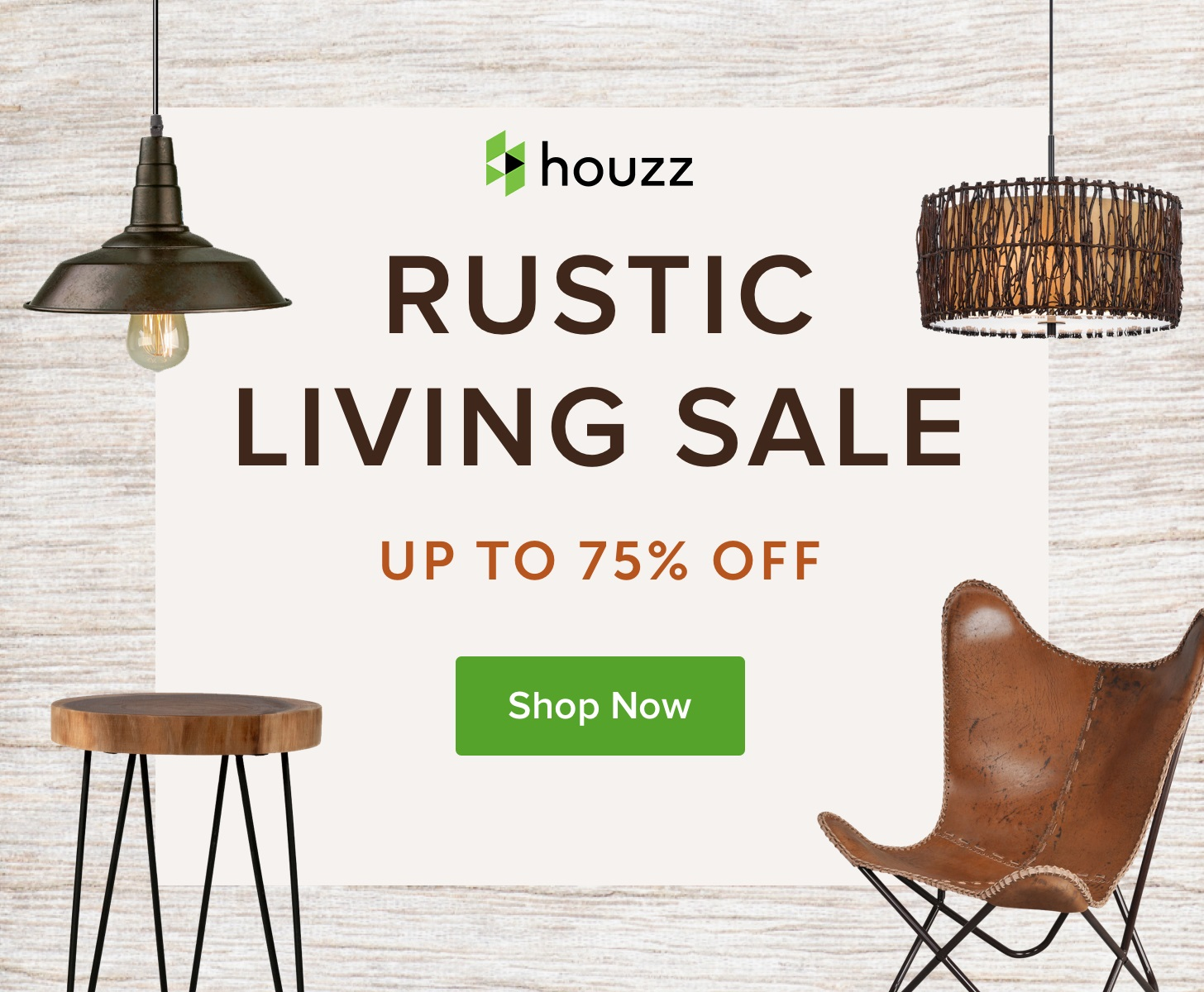 Rustic Living Sale - Up to 75% off at Houzz