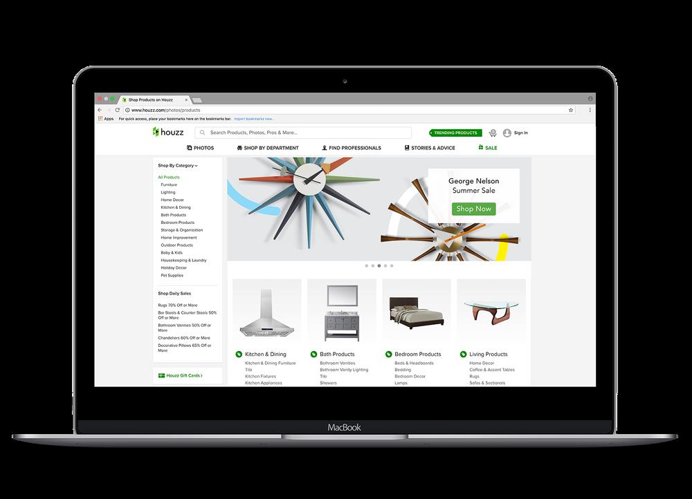 Houzz Desktop Website