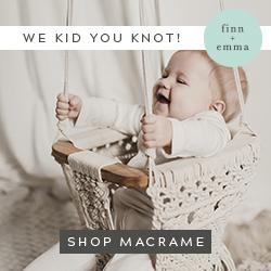 Grab this Fun Macrame Swing at Finn + Emma