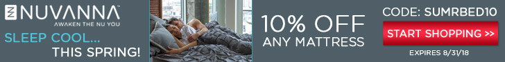 10% off any Mattress with coupon code SUMRBED10 - shop Nuvanna.com now!