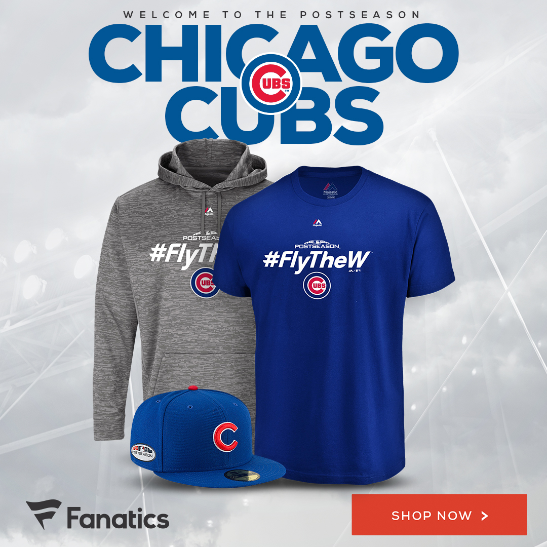 Shop Chicago Cubs Postseason Gear at Fanatics