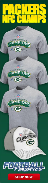 Green Bay Packers - 2010 NFC Conference Champs!  Get your gear at Football Fanatics!