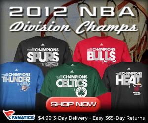 Shop 2012 NBA Division Champ Gear at Fanatics!