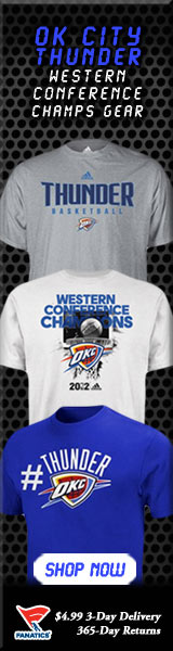Shop OK City Thunder 2012 Western Conference Champ gear at Fanatics!