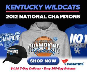 Shop for 2012 NCAA Champions Kentucky Wildcats gear at Fanatics!