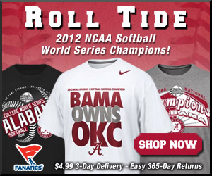 Shop for 2012 Tide Softball Champions Gear at Fanatics