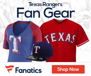 Shop Texas Rangers gear at Fanatics.com!