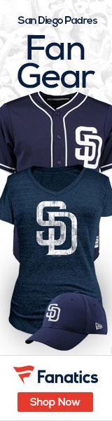 Shop San  Diego  Padres gear at Fanatics.com!