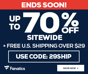 Huge Black Friday Savings at Fanatics.com