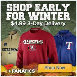 Shop early for Winter fan gear at Fanatics!