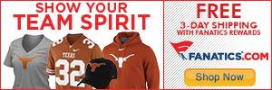 Shop Texas Longhorns gear at Fanatics.com!