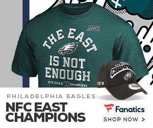 The Eagles are 2019 NFC East Champs - Get your gear at Fanatics