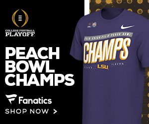 Shop for LSU 2019 Peach Bowl Champs and CFP Gear at Fanatics
