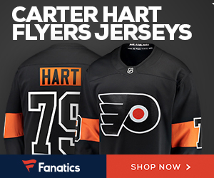 Carter Hart Flyers Jerseys from Fanatics