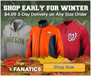 Shop early for Winter fan gear at Fanatics!