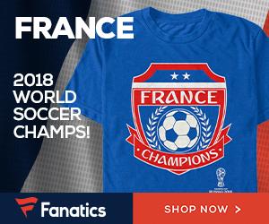 France 2018 World Cup Champs Fan Gear