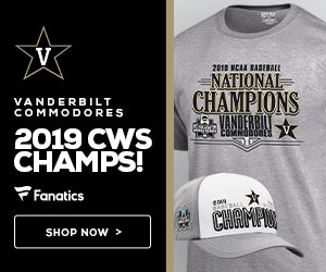 Vanderbilt Commodores 2019 CWS Champs