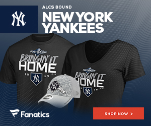 Yankees AL East and 2019 Postseason Gear at Fanatics