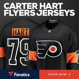 Carter Hart Flyers Jerseys from Fanatics