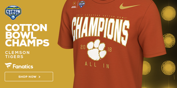 Clemson Tigers 2018 Cotton Bowl Champs Gear