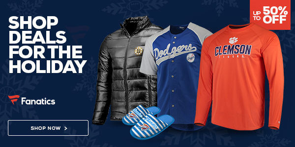 Shop holiday steals on Fanatics!