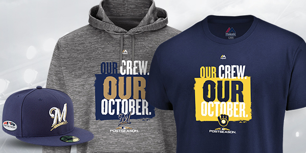 ae3db30b0 Shop Milwaukee Brewers Postseason Gear at Fanatics