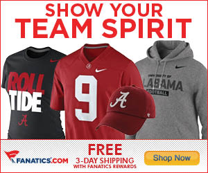 Shop Alabama Crimson Tide gear at Fanatics.com!