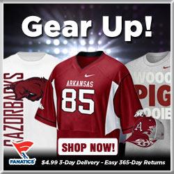 Shop for Arkansas Razorbacks Gear at Fanatics!