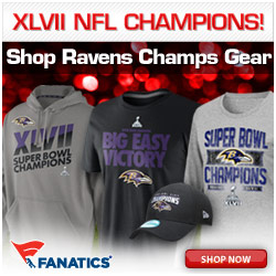 Baltimroe Ravens Shirts and Gear