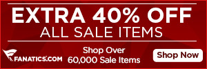 2014 Spring Clearance Sale - Extra 40% off all sale items at Fanatics.com - Shop Now!