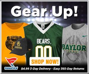 Shop Baylor Bears basketball gear at Fanatics!