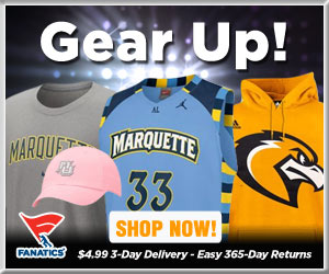 Shop Marquette Golden Eagles basketball gear at Fanatics!