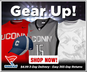 Shop Connecticut Huskies basketball gear at Fanatics!