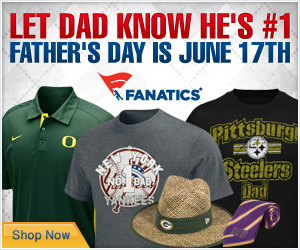 This Fathers Day, find Dads favorite sports merchandise and more at Fanatics!