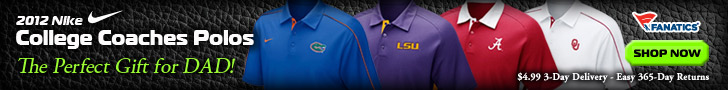 Shop Fanatics for 2012 College Nike Coaches Sideline Polos - Perfect Gift for Dad or yourself!