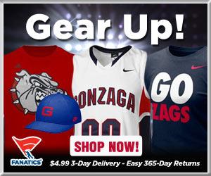 Shop Gonzaga Bulldogs basketball gear at Fanatics!