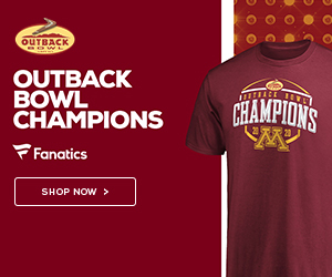 The Gophers Reign Supreme! Pick up your Outback Bowl Champs gear at Fanatics