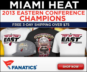 Shop for 2013 Miami Heat Eastern Conference Champs Merchandise