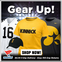 Shop for Iowa Hawkeyes Gear at Fanatics!