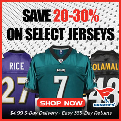 Save 20-30% on Reebok NFL Jerseys in 2012 Jersey Clearance Sale at Fanatics