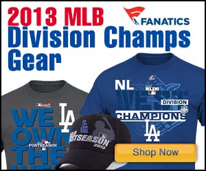 Los Angeles Dodgers NL West Championship gear